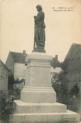 "CPA FRANCE 71 "" Viry, Le monument aux morts""."