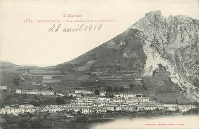 """CPA FRANCE 09 """" Montségur, Vue générale et le château""""."""