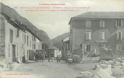 """CPA FRANCE 09 """" Mérens, Route Nationale """"."""
