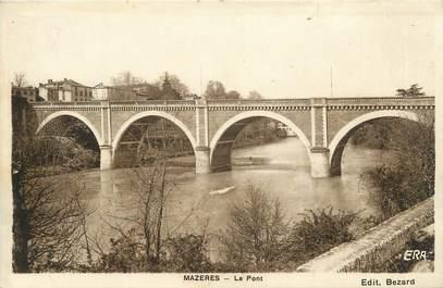 """CPA FRANCE 09 """" Mazères, Le pont""""."""
