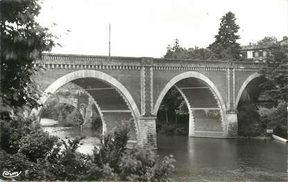 """CPSM FRANCE 09 """" Mazères sur l'Hers, Le pont neuf""""."""