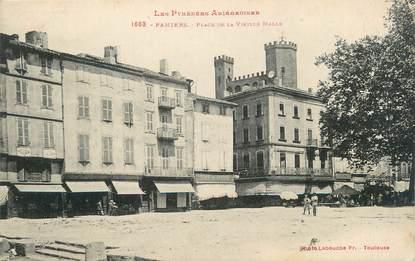 """CPA FRANCE 09 """" Pamiers, Place de la vieille halle""""."""