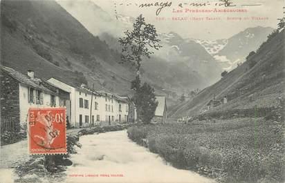 """CPA FRANCE 09 """" Salau, Sortie du village""""."""