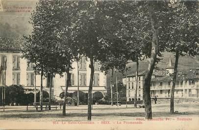 "CPA FRANCE 09 "" St Gironnais - Seix, La promenade""."