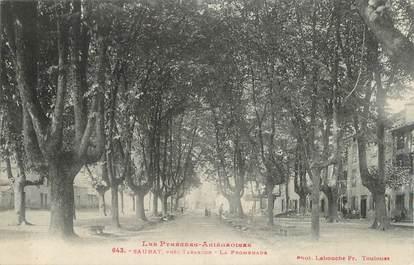 "CPA FRANCE 09 "" Saurat, La promenade""."