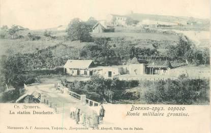 """CPA RUSSIE """"Rte militaire grousine, la station Douchette"""""""