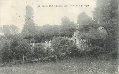 """CPA FRANCE 09 """" Sabarat, Le château des Salenques""""."""