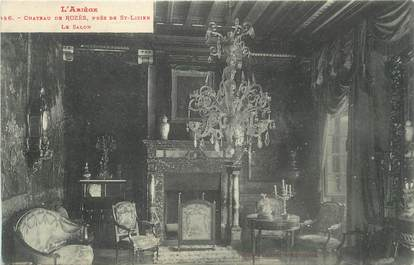 """CPA FRANCE 09 """" Près de St Lizier, Le salon du château de Rozès""""."""