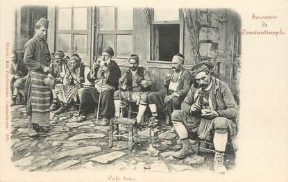 "CPA TURQUIE ""Souvenir de Constantinople, Café turc"""