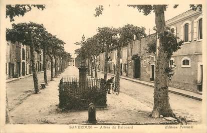 "CPA FRANCE 09 "" Saverdun, Allée du Ballouard""."
