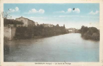 """CPA FRANCE 09 """" Saverdun, Les bords de l'Ariège""""."""