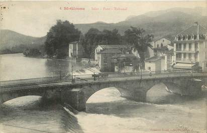 """CPA FRANCE 09 """" St Girons, Le pont""""."""
