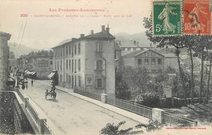 "CPA FRANCE 09 "" St Girons, Avenue de la gare""."
