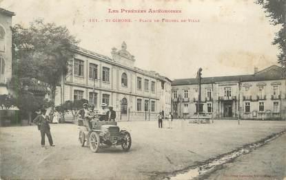 """CPA FRANCE 09 """" St Girons, Place de l'Hôtel de Ville""""."""