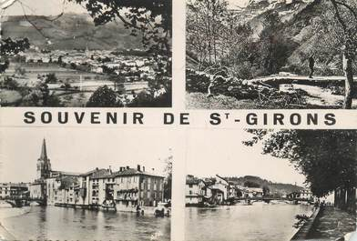 """CPSM FRANCE 09 """" St Girons, Vues""""."""