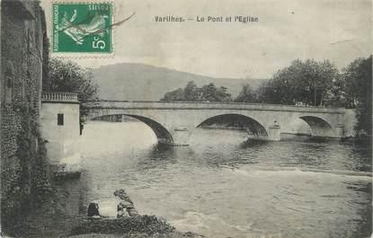 """CPA FRANCE 09 """" Varilhès, Le pont et l'église""""."""