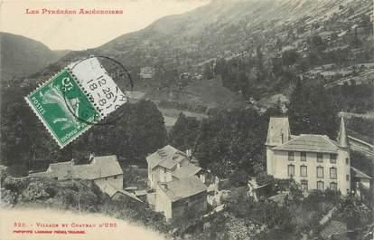 """CPA FRANCE 09 """" Urs, Village et château""""."""