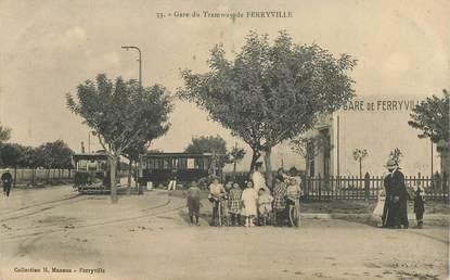 """CPA TUNISIE """"Ferryville"""" / TRAMWAY"""