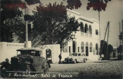"""CARTE PHOTO TUNISIE """"Hammamet, Hotel de France"""""""
