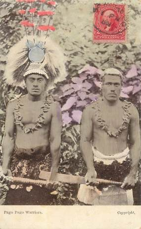 "CPA SAMOA ""Guerriers Pago Pago"""
