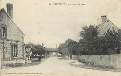 """CPA FRANCE 10 """" Allibaudières, Avenue de la gare""""."""