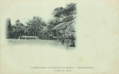 """CPA NOUVELLE GUINÉE """"Missionnaires du Sacré Coeur en Océanie"""""""