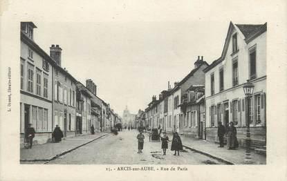 """CPA FRANCE 10 """"Arcis sur Aube, Rue de Paris""""."""