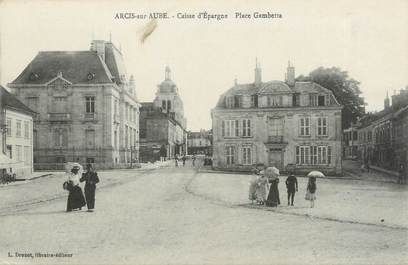 "CPA FRANCE 10 ""Arcis sur Aube, Place Gambetta""."