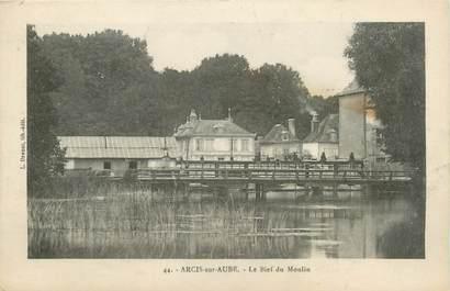 """CPA FRANCE 10 """"Arcis sur Aube, Le bief du moulin""""."""
