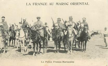 """CPA MAROC """"La Police franco marocaine"""""""