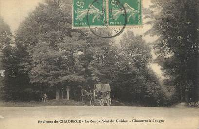 """CPA FRANCE 10"""" Environs de Chaource, Le rond point du Guidon""""."""