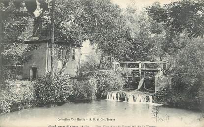 """CPA FRANCE 10"""" Gyé sur Seine, Une vue dans la propriété de la Vanne""""."""