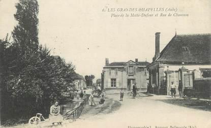 """CPA FRANCE 10"""" Les Grandes Chapelles, Place de la Motte Dufour et Rue de Chausson""""."""