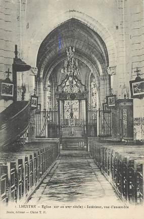 """CPA FRANCE 10"""" Lhuitre, Intérieur de l'église""""."""