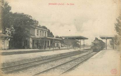 "CPA FRANCE 10 "" Jessains, La gare""."