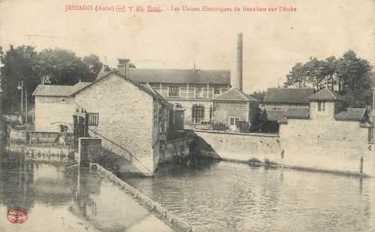 """CPA FRANCE 10 """" Jessains, Les usines électriques de Beaulieu sur l'Aube""""."""