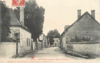 "CPA FRANCE 10 "" Estissac, Rue de Thuisy""."