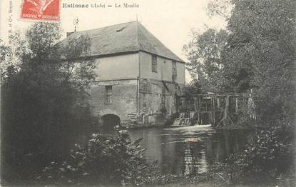 "CPA FRANCE 10 "" Estissac, Le moulin""."