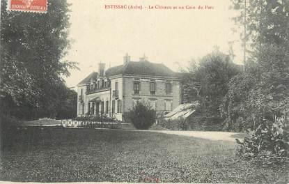 """CPA FRANCE 10 """" Estissac, Le château et un coin du parc""""."""