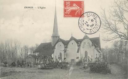 """CPA FRANCE 10 """" Ormes, L'église""""."""