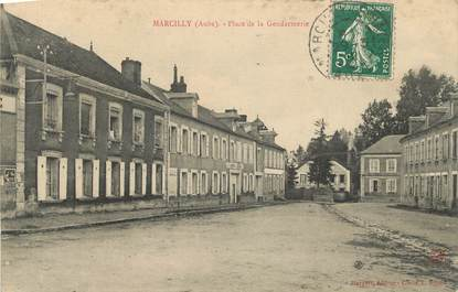 "CPA FRANCE 10 "" Marcilly, Place de la Gendarmerie""."