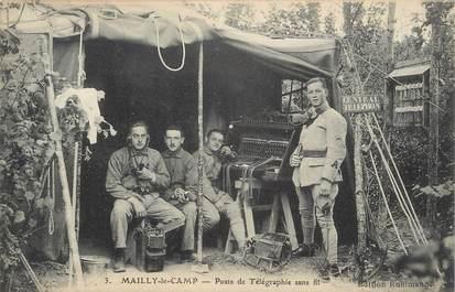 """CPA FRANCE 10 """" Mailly le Camp, Poste de télégraphie sans fil"""". / TSF"""