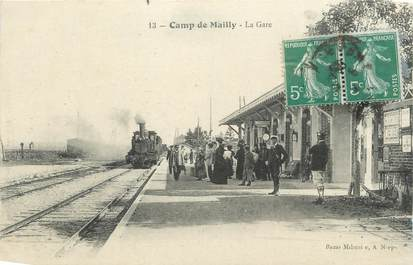 "CPA FRANCE 10 "" Mailly le Camp, La gare""."