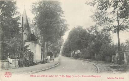"""CPA FRANCE 10 """" Méry sur Seine, Route de Mesgrigny""""."""