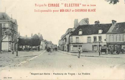 """CPA FRANCE 10 """" Nogent sur Seine, Faubourg de Troyes, le Théâtre""""."""