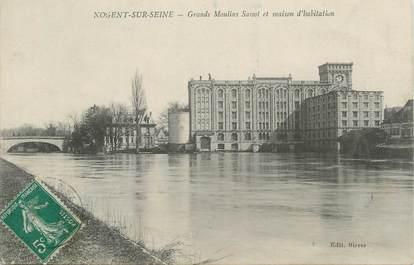 """CPA FRANCE 10 """" Nogent sur Seine, Grands Moulins Sassot et maison d'habitation""""."""