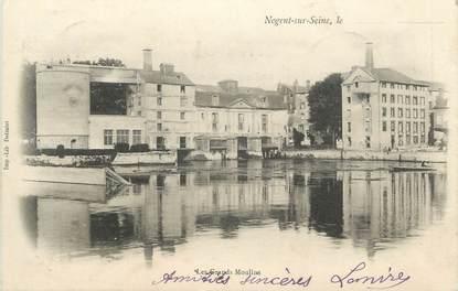 """CPA FRANCE 10 """" Nogent sur Seine, Les grands moulins""""."""