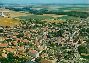 """CPSM FRANCE 10 """" Plancy L'Abbaye, Vue générale aérienne""""."""