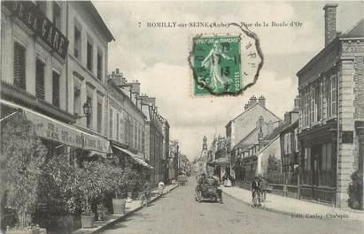 """CPA FRANCE 10 """" Romilly sur Seine, Rue de la Boule d'Or""""."""
