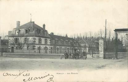 """CPA FRANCE 10 """" Romilly sur Seine, Les écoles""""."""